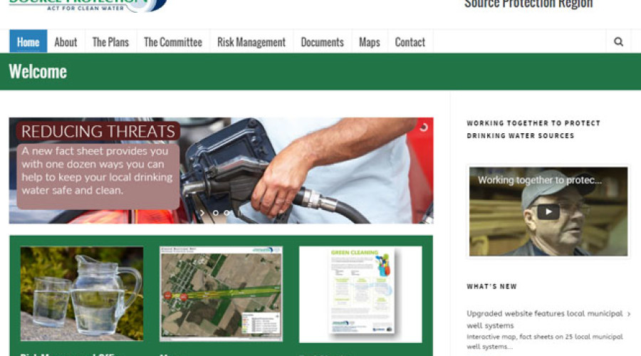 Upgraded website features local municipal well systems