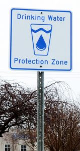 Drinking water protection zone signs are a helpful reminder to be extra careful near municipal wells and intakes.
