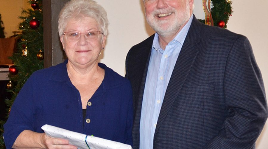 Source protection committee honours Rowena Wallace for decade of service